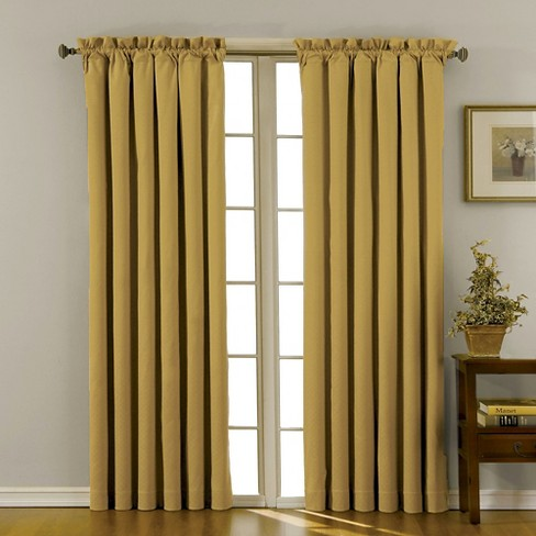 "Eclipse Thermaback Canova Blackout Curtain Panel - Gold (42""x63"") - image 1 of 3"