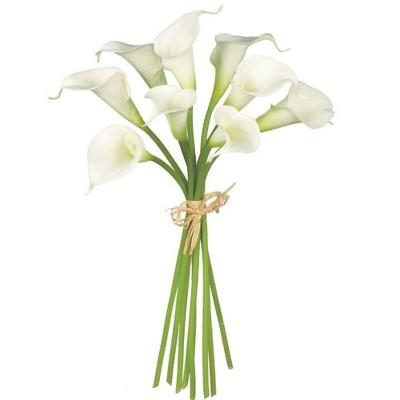 """Sullivans Artificial Calla Lily Bouquet Stem 14""""H White"""