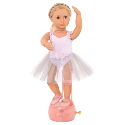 """Our Generation 18"""" Ballerina Doll with Movable Joints & Music Box Stand - Erin"""