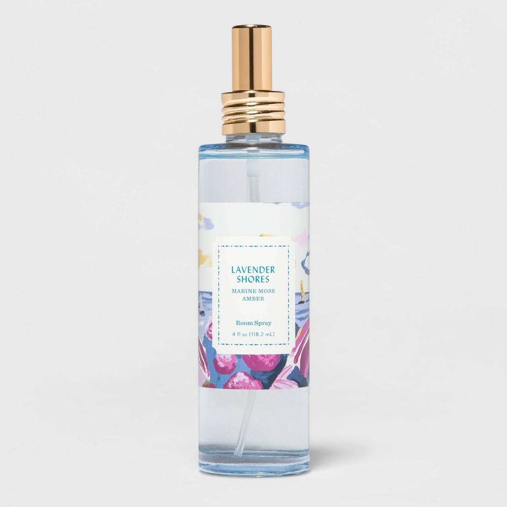 4 Fl Oz Blue Glass Lavender Shores Room Spray Opalhouse 8482