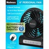 Personal Rechargeable Fan Black - Holmes - image 2 of 2