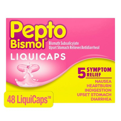 Pepto Bismol 5 Symptoms Digestive Relief Liquicaps