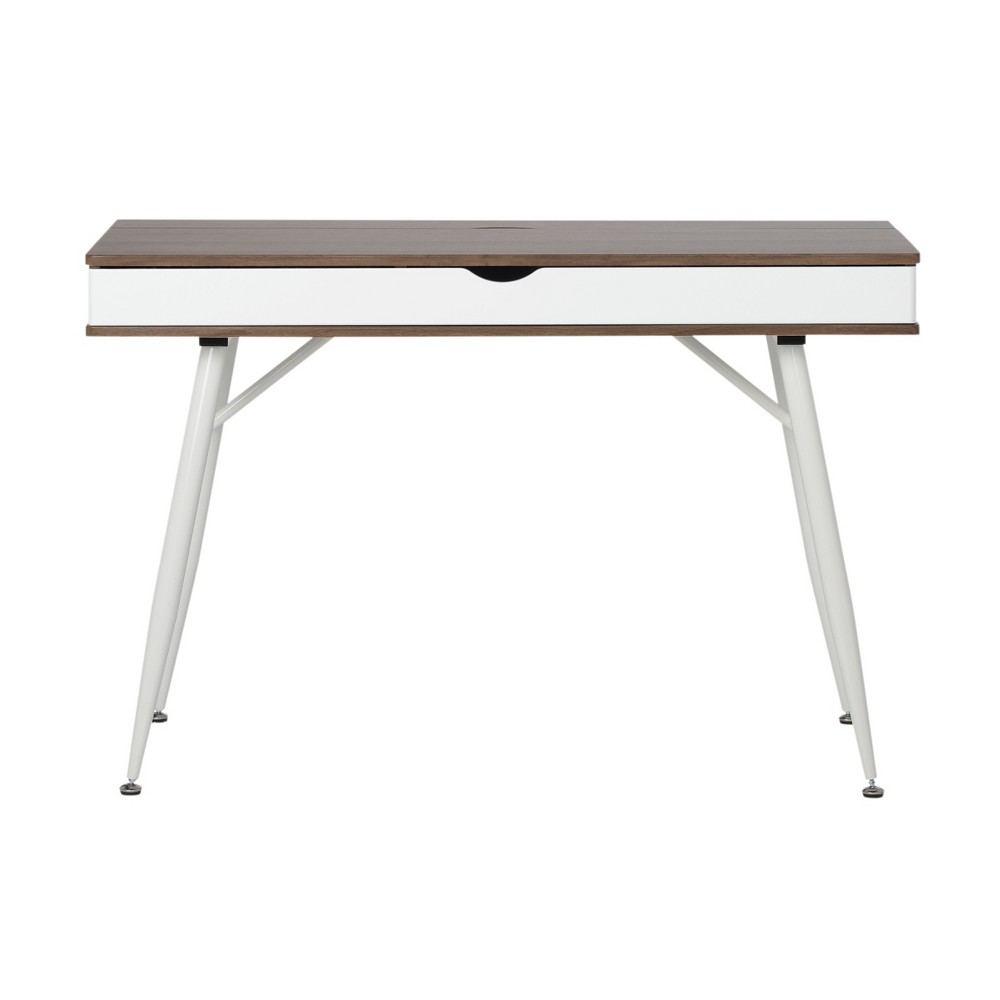 Alcove Writing Desk Dark Gray Wash - Calico Designs, Brown