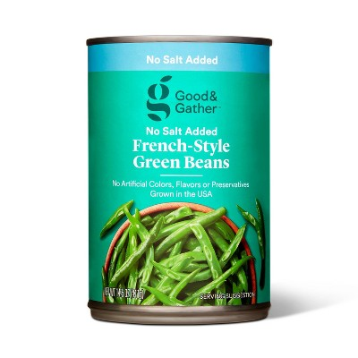 No Salt Added French Style Green Beans - 14.5oz - Good & Gather™
