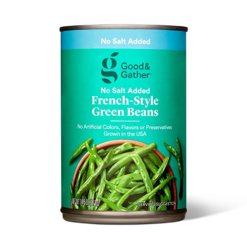 No Salt Added French Style Green Beans - 14.5oz - Good & Gather™ - image 1 of 2