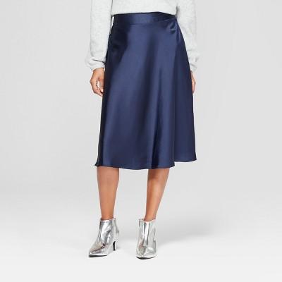 3548fb1ef Women's Satin Midi Skirt – A New Day™ Navy XS – BrickSeek