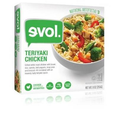 Evol Gluten Free Frozen Teriyaki Chicken- 9oz