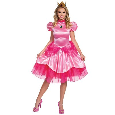 Adult Princess Peach Deluxe Halloween Costume