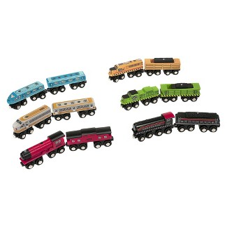 All Aboard Wooden Trains Set