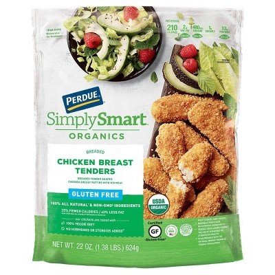 Perdue Simply Smart Organics Gluten Free Breaded Chicken Breast Tenders - Frozen - 22oz