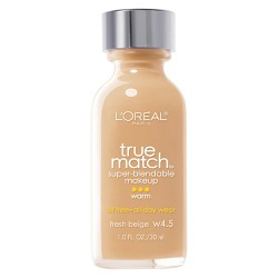 L'Oreal Paris True Match Super-Blendable Makeup - Light Shades - 1.0 fl oz