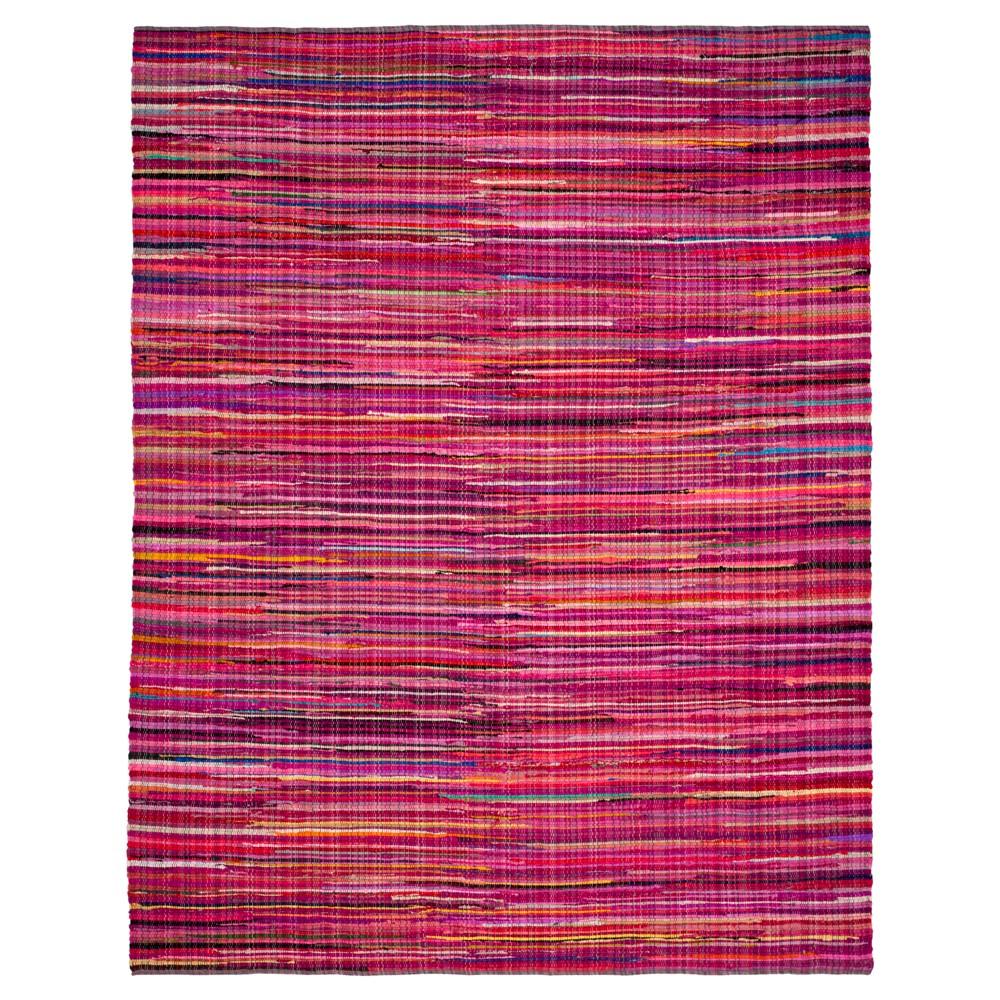 Dark Pink Spacedye Design Woven Area Rug 6'x9' - Safavieh
