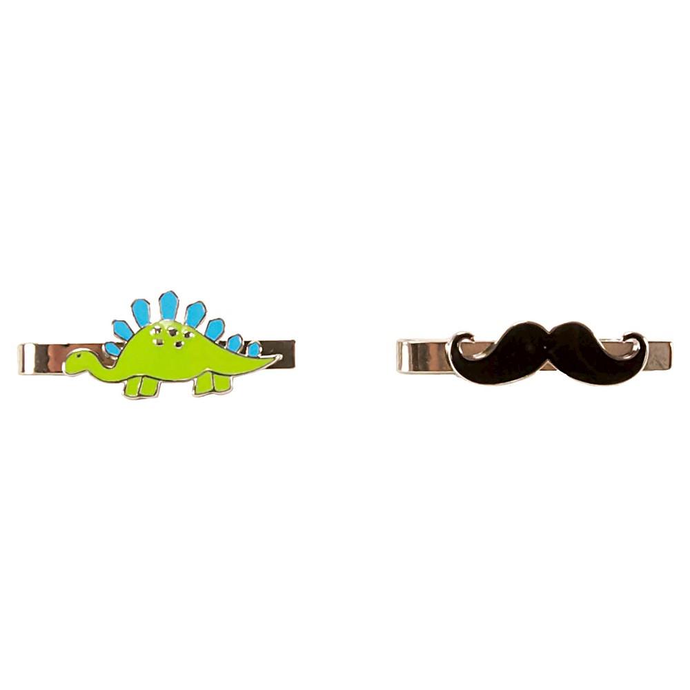 Boys' Tie Clip 2pk - Cat & Jack Multi-Colored
