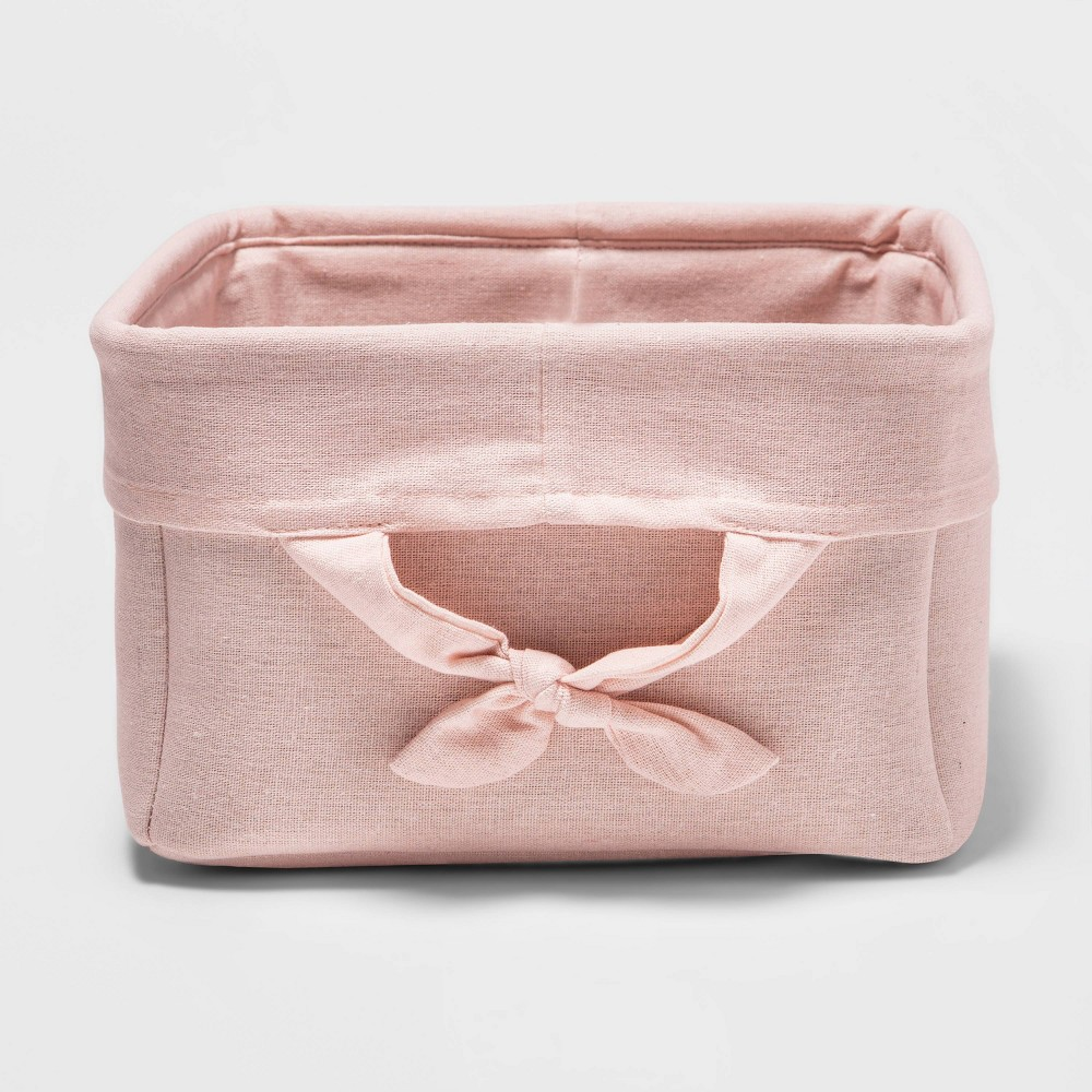 Decorative Storage Bin With Side Tie Medium Cloud Island 8482 Pink