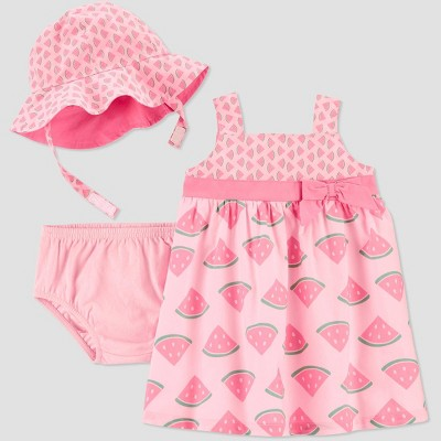 Baby Girls' 2pc Watermelon Dress Set - Just One You® made by carter's Pink 12M