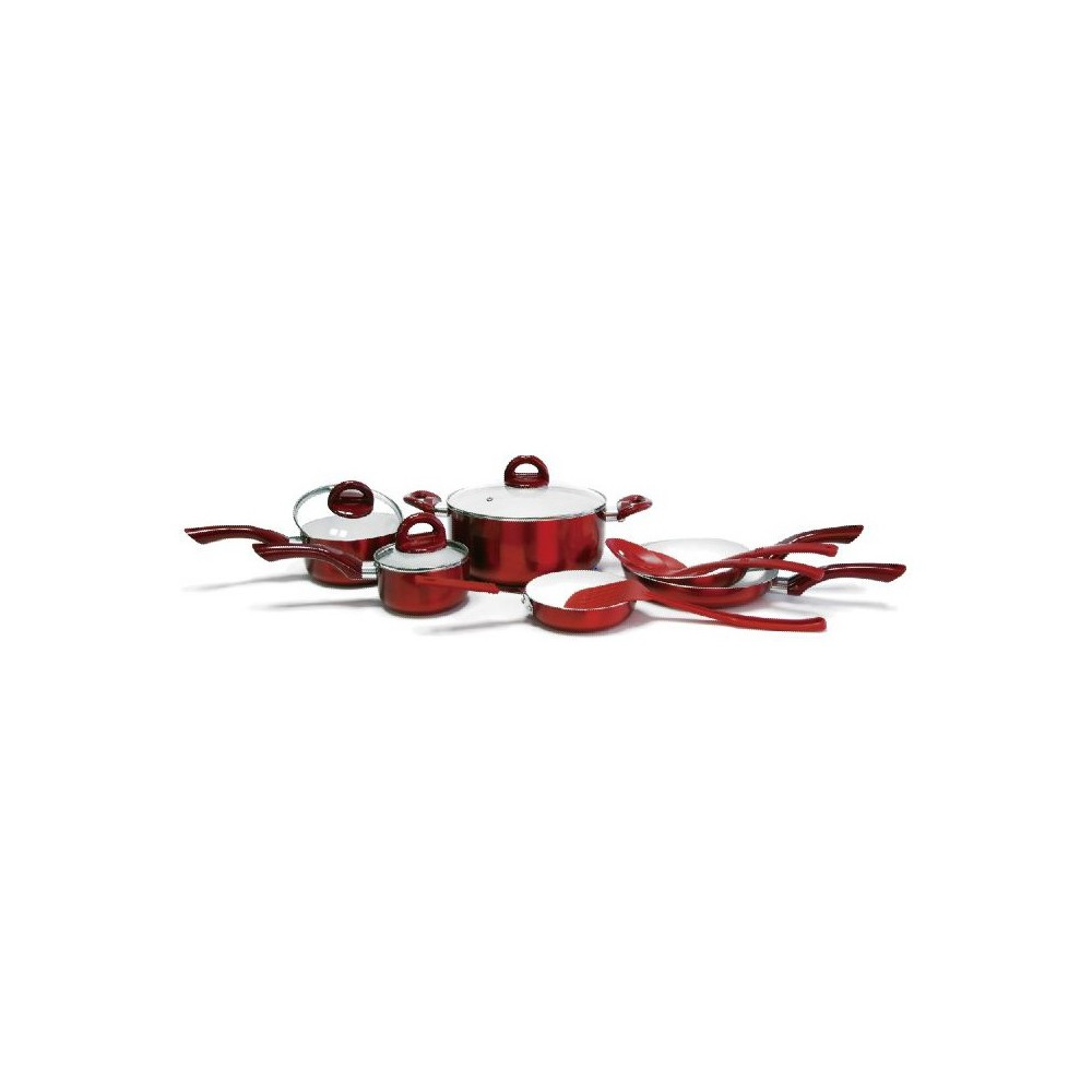 CeraPan Metallic Cookware 12pc Set - Red