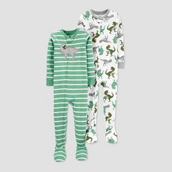 Toddler Boys' 100% Cotton 1pc Footed Pajama - Just One You® made by carter's Green