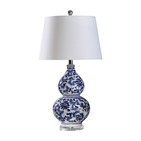 Letty Floral Ceramic Table Lamp Blue  - Abbyson Living - image 1 of 4