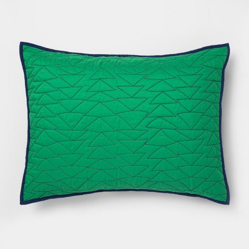 Triangle Stitch Standard Pillow Sham - Pillowfort™ - image 1 of 3