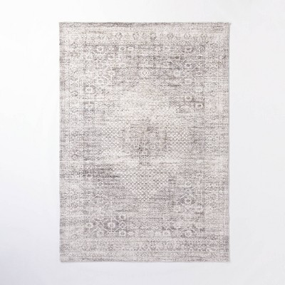 7'x10' Millcreek Distressed Vintage Persian Rug Charcoal - Threshold™ designed with Studio McGee