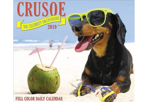 Crusoe the Celebrity Dachshund 2019 Calendar -  (Paperback) - image 1 of 1