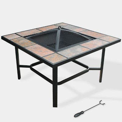 4-in-1 33  Capri Ceramic Tile Fire Table - Copper - leisurelife