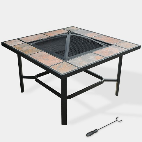 "33"" 4-in-1 Capri Ceramic Tile Fire Table Black - leisurelife - image 1 of 4"