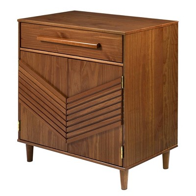Felix Chevron Pop Solid Pine Accent Cabinet - Saracina Home