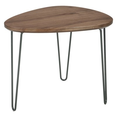 Courager Triangle End Table Brown/Black   Signature Design By Ashley