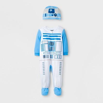 Toddler Boys' Star Wars® Footed Pajamas - White 12M