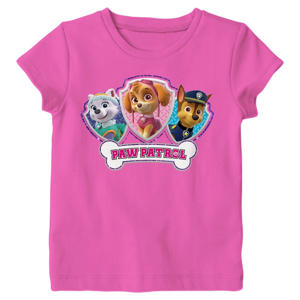 Toddler Girls' Paw Patrol Group Short T-Shirt 3T - Pink