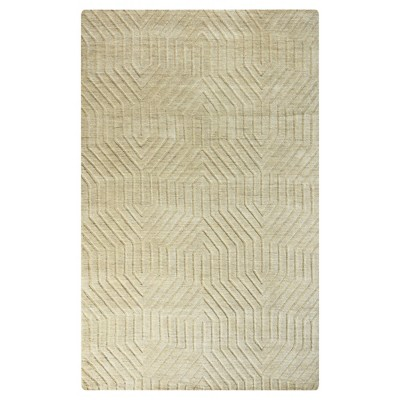 Rizzy Home Technique Collection Hand-Loomed 100% Wool Area Rug