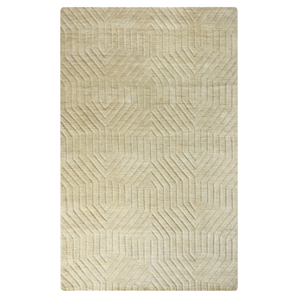 Image of 5'X8' Solid Area Rug Desert Tan - Rizzy Home