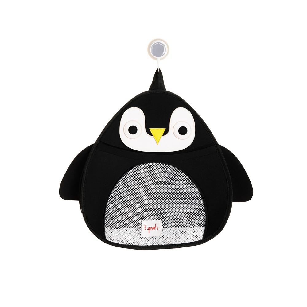 Image of 3 Sprouts Penguin Bath Storage - Black