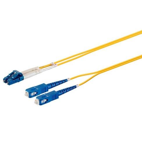 Monoprice Fiber Optic Cable - 15m (Meter) - LC/UPC-SC/UPC, G657A1, Single Mode, Duplex, 2mm, PVC - image 1 of 4