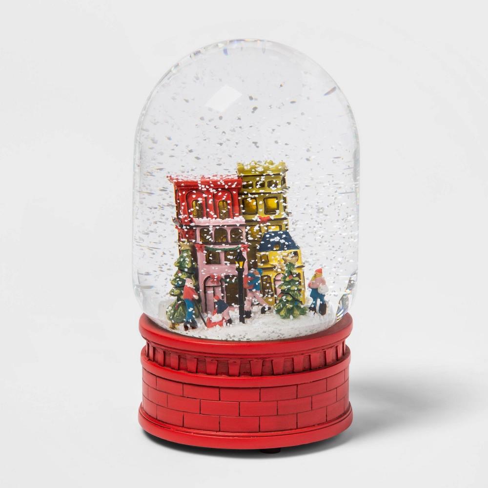 "Image of ""17.7"""" x 10.1"""" Light-Up Christmas Cityscape Snow Globe - Threshold"""