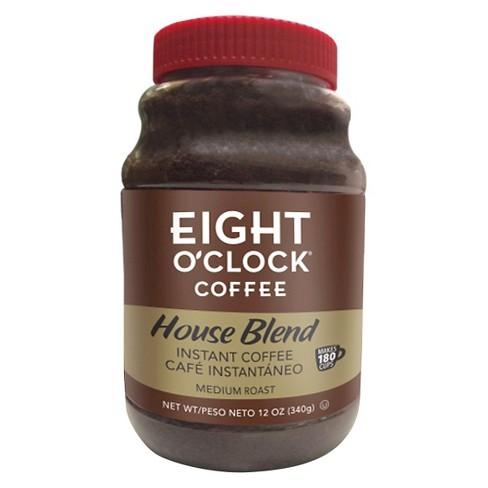 Eight Oclock House Blend Medium Roast Instant Coffee 12oz