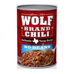 Wolf Plain Chili 15 oz