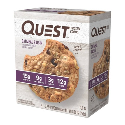 Quest Protein Cookie - Oatmeal Raisin - 4ct - image 1 of 1