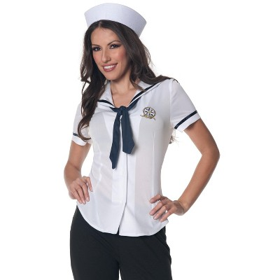 Underwraps Costumes Sailor Fitted Shirt Adult Costume