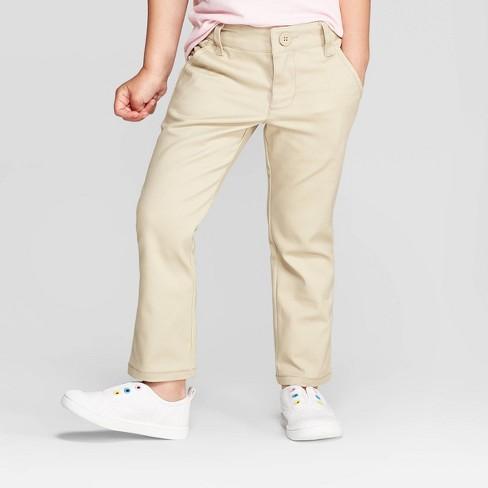 Toddler Girls' Uniform Skinny Stretch Twill Pants - Cat & Jack™ - image 1 of 3