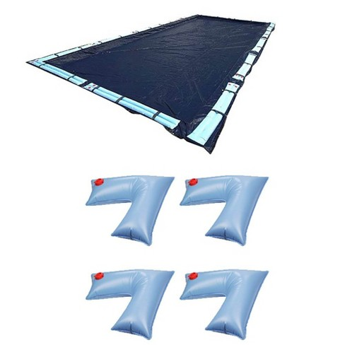 Swimline 25x45 Ft Winter Pool Cover + 4-Pack of Corner Water Tube Cover Weights - image 1 of 3