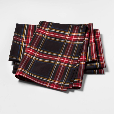 Tartan Plaid Fabric Dinner Napkins Set of 4 - sugar paper™