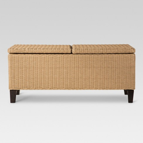 Fullerton Wicker Rectangle Patio Storage Coffee Table Project 62