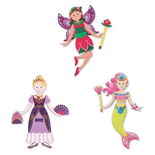 Melissa & Doug Puffy Sticker Activity Books Set: Princess, Mermaid, Fairy - 180+ Reusable Stickers image number null