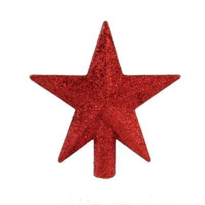 """Tree Topper Finial 4.5"""" Mini Glittered Star Christmas Tree Topper  -  Tree Toppers"""