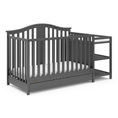 Graco Solano 4-in-1 Convertible Crib And Changer With Drawer - Gray