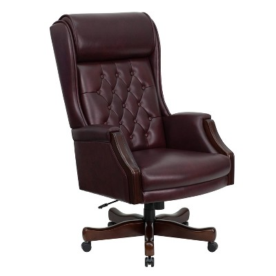 Executive Swivel Office Chair Burgundy Leather - Flash Furniture  Target  sc 1 st  Target & Executive Swivel Office Chair Burgundy Leather - Flash Furniture ...