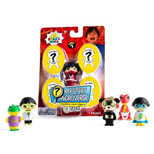 Ryan's World Mystery Microverse Mystery Micro Figure - 5pk image number null