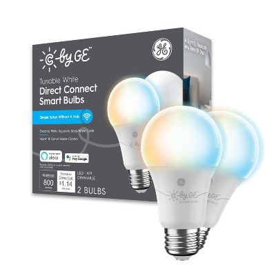 General Electric 2pk Tunable Smart LED Bulb A19 White